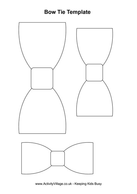 Bow Tie Template Free by Bow Tie Template Activities Bow