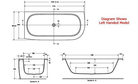 american standard bathtub dimensionsjpg  banyo