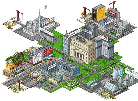 Digital City   Isometric Pixel Illustration  HUBERT BURDA ...