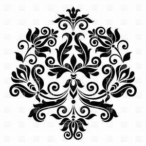 Black vintage floral design element Royalty Free Vector ...