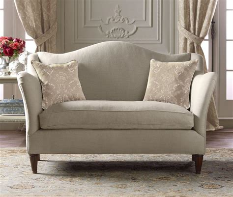 Compact Loveseat by Camelback Loveseat Country From Pierredeux