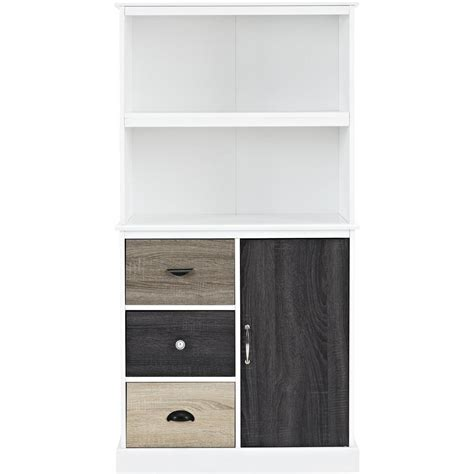drawer fronts home depot ameriwood home newbridge white storage bookcase with