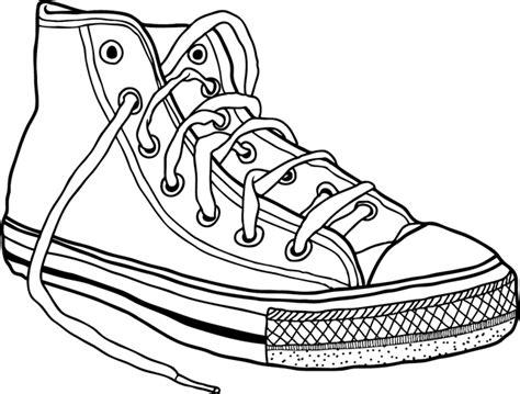 chaussure cuisine homme coloriage une basket dory fr coloriages