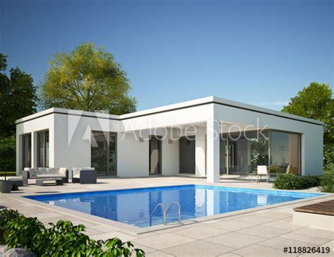bungalow flachdach mit pool  tag kaufen sie diese