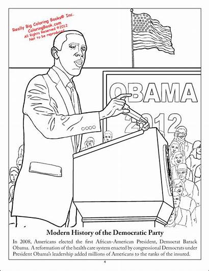 Coloring Democratic Party Books Democrat Activity History