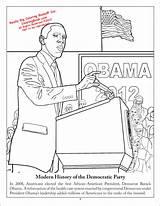 Coloring Democratic Party Books Democrat Activity History Coloringbook sketch template