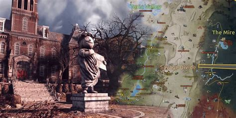 fallout  fans   recreate  games map screen rant