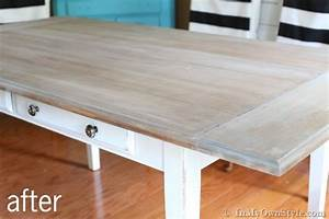 Furniture Makeover: Weathered Driftwood Furniture Finish