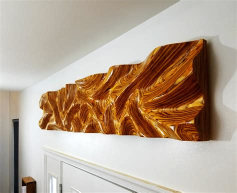 plywood wall art  finished woodworking