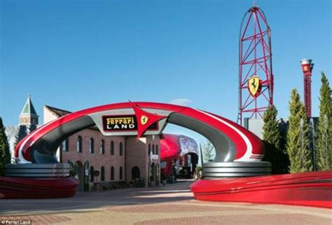 New roller coaster will join ???ferrari driving experience???, ???karting academy??? Video shows ride on new Ferrari Land roller coaster | Daily Mail Online