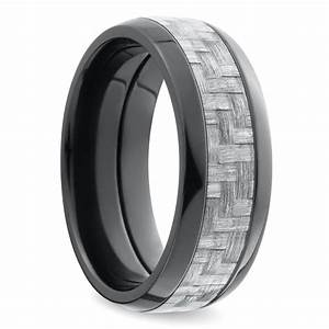 domed carbon fiber men39s wedding ring in ziconium With carbon fiber wedding ring men
