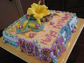 Hawaiian Birthday Cake Designs