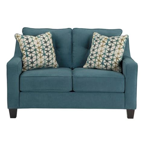 Teal Loveseat by 6080535 Furniture Shayla Teal Living Room Loveseat