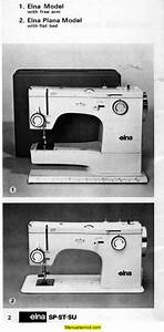 Elna Sp St Su Sewing Machine Instruction Manual