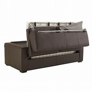 Canapé 2 Places Lit : canap convertible en cuir matelas 14 cm petit prix ~ Premium-room.com Idées de Décoration