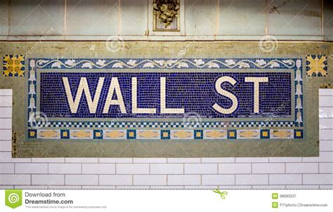 wall subway sign tile pattern stock image image