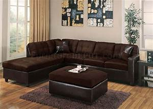 modern sectional sofa 10100 chocolate With milano reversible sectional sofa