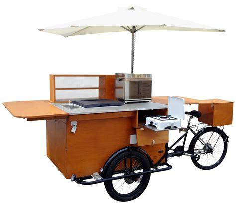 cuisine cr鑪e food bike pasticceria ambulante con banco legno
