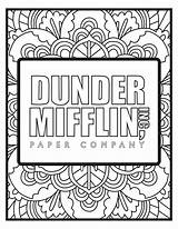 5pck Dunder Mifflin Popcolors Fice Divyajanani Jurnalistikonline sketch template