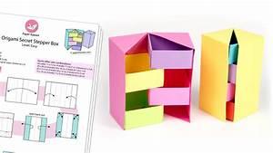 Origami Secret Stepper Box Diagram