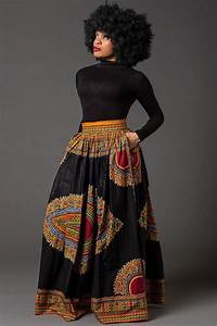 Black Dashiki maxi skirt African print skirt for women by Laviye | My Wishlist | Pinterest ...
