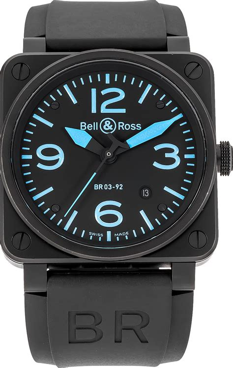 bell und ross br0392 blue bell ross authenticwatches
