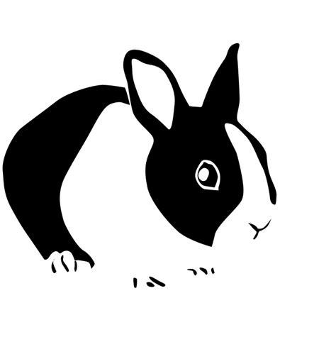rabbit silhouette   clip art  clip