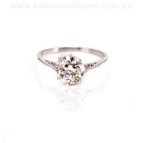 platinum deco engagement ring available for