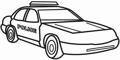 Coloring Police Pages Printable Colouring Cars Outline