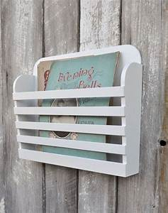 RESERVED. Rustic Hanging Wooden Magazine File Holder Solid ...