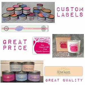 candle tin label starter pack With candle tin labels