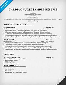 cardiac nurse resume sample resumecompanioncom With top nursing resume writers