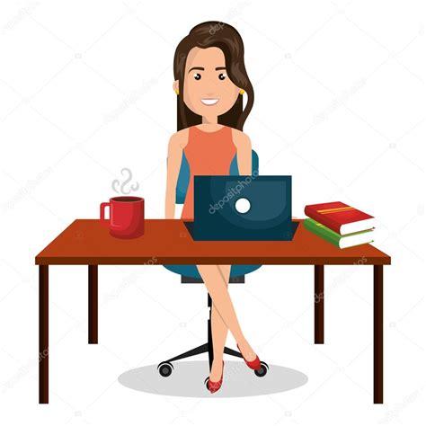 affaires de bureau dessin femme d affaires bureau travail bureau graphique