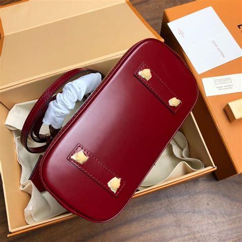original copy louis vuitton alma pm epi leather white  red