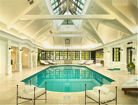 elegant private indoor glass mosaic swimming pool