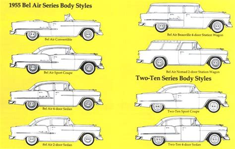 1955 Chevrolet Body Styles