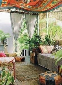 Mexican Style Kitchen Curtains by 37 Beautiful Bohemian Patio Designs Digsdigs