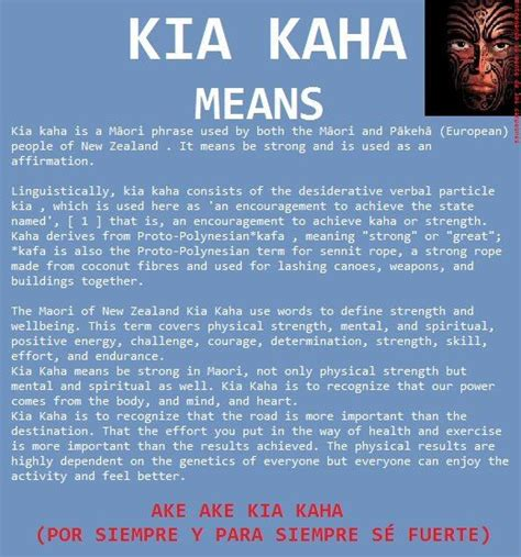 Forever Strong Kia Kaha by Kia Kaha For Everyone Who Asks What The On My