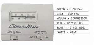 Coleman Mach 7330g3351 Air Conditioner Wall Thermostat