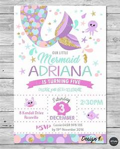 little mermaid invitations invite 1st first birthday party With 1st birthday invitation letter