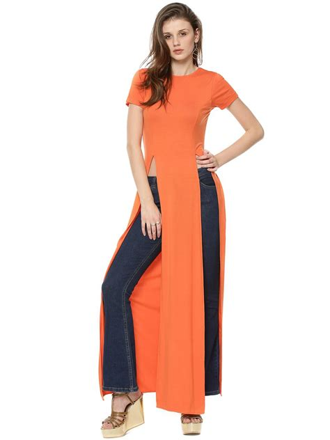 Buy Koovs Double Split Maxi Top For Women  Women's Orange