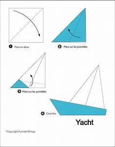 Origami Bateau à Voile : origami facile bateau voile ~ Dode.kayakingforconservation.com Idées de Décoration