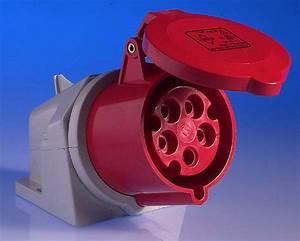 415v 32 Amp 5 Pin Wall Socket