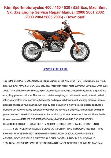 Ktm Sportmotorcycles Exc Mxc