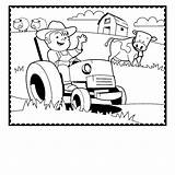 Coloring Farm Tractor Animals Farmer Preschool Agriculture Printable Cow Animal Trailer Colouring Horse Crafts Drawing Sheets Truck Getdrawings Getcolorings Activities sketch template