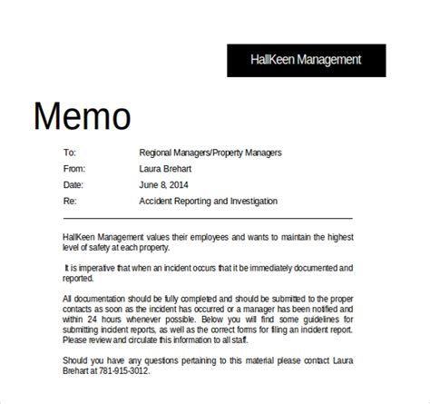 Memo To File Template by 15 Professional Memo Templates Free Sle Exle