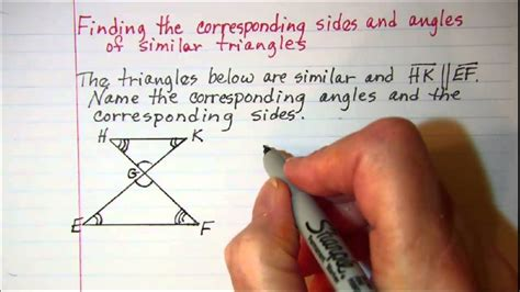 finding   sides  angles  similar
