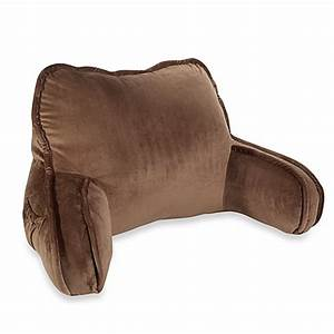 plush backrest pillow in chocolate bed bath beyond With best back rest pillow
