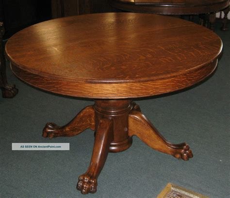 antique dining table and chairs antique 48 quot round quartersawed oak dining table american