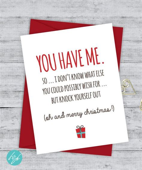 funny christmas card boyfriend card christmas card